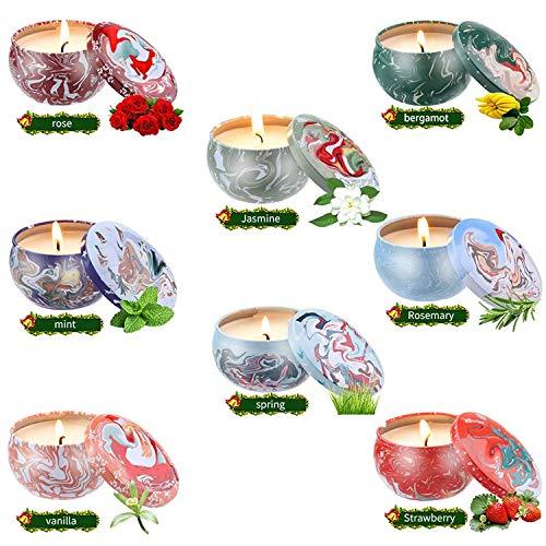 YIHANG 8 Pack Regalo de Velas Perfumadas,Velas Aromaticas,Cera de Soja Natural,Aromaterapia Decoración para Relajación Fiesta Boda Baño Yoga Cumpleaños Navidad Día de San Valentín Regalos
