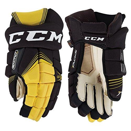 CCM Super Tacks Handschuhe Senior, Größe:15 Zoll;Farbe:schwarz/gelb