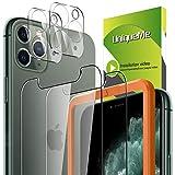 [2 Pack] UniqueMe Protector de Pantalla Compatible con iPhone 11 pro 5.8 inch + [2 Pack} Protector de Lente de cámara, Vidrio Templado [9H Dureza] HD Film Cristal Templado