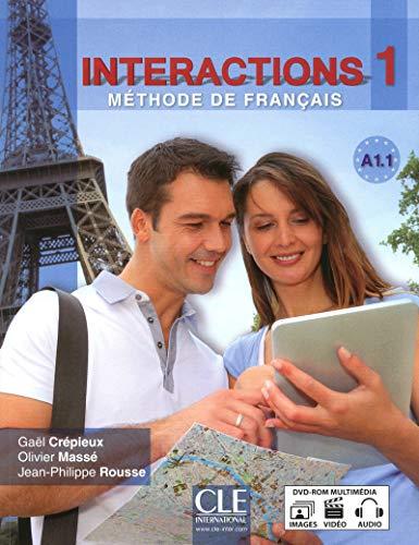 Interactions 1 Podrecznik z cwiczeniami + klucz + DVD: Livre + DVD-Rom A1.1