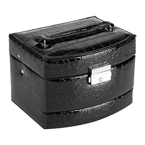 Huairdum Joyero, Caja de Almacenamiento de joyería Caja de Almacenamiento de joyería, para el Pendiente del Collar del Anillo de la joyería(Black)