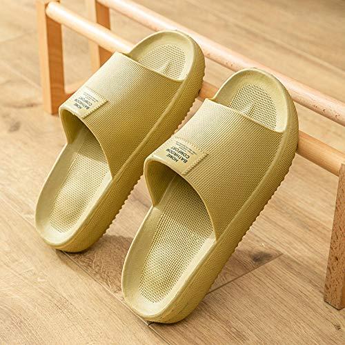 Nwarmsouth Zapatillas de baño para el hogar,Zapatillas de baño Interiores, Sandalias de Masaje Antideslizantes-Green_36-37,Sandalias De Ducha de Casa