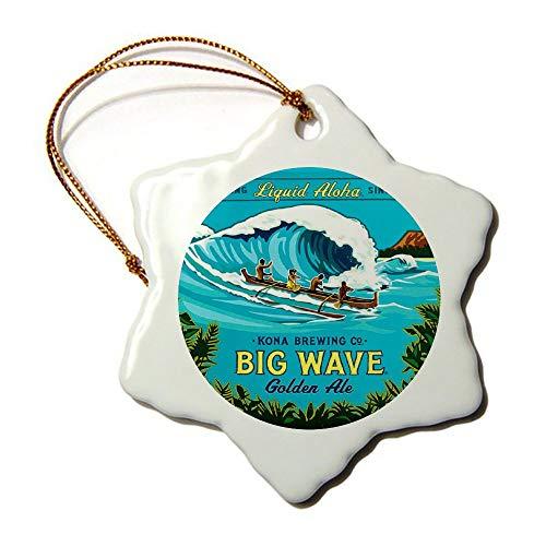 YYone Christmas Ornament Classic Design Kona Big Wave Xmas Decorative Hanging Ornament