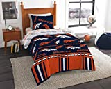 Denver Broncos Twin Comforter Logo Sheets 4 Piece Bed in A Bag