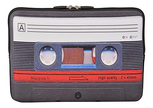 MySleeveDesign Laptoptasche Notebooktasche Sleeve für 10,2 Zoll / 11,6-12,1 Zoll / 13,3 Zoll / 14 Zoll / 15,6 Zoll / 17,3 Zoll - Neopren Schutzhülle mit VERSCH. Designs - Cassette [10]