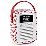 VQ Portable Retro Mini DAB and DAB+ Digital Radio with FM, Bluetooth, Aux, USB, Alarm Clock – Lulu Guinness...