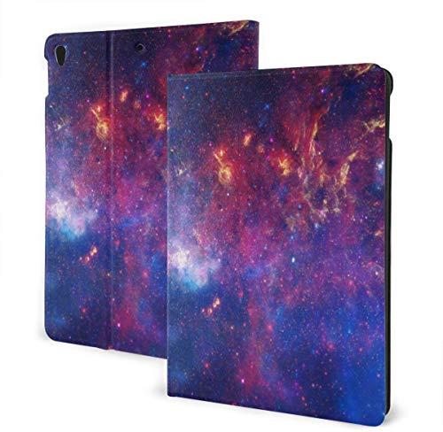 Color Beach Umbrella Case for Ipad Air 3rd Gen 10.5' 2019 / Ipad Pro 10.5' 2017 Multi-Angle Folio Stand Auto Sleep/Wake for Ipad 10.5 Inch Tablet-Color Fantasy Universe-One Size