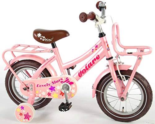 Volare Lovely Stars Kinderfiets - Meisjes - 12 inch - Roze - 95% afgemonteerd