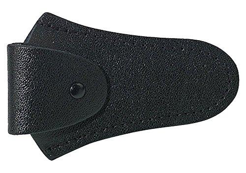 GEWA 720004 - Funda para boquilla para trombón/trompa/barítono, cuero color negro
