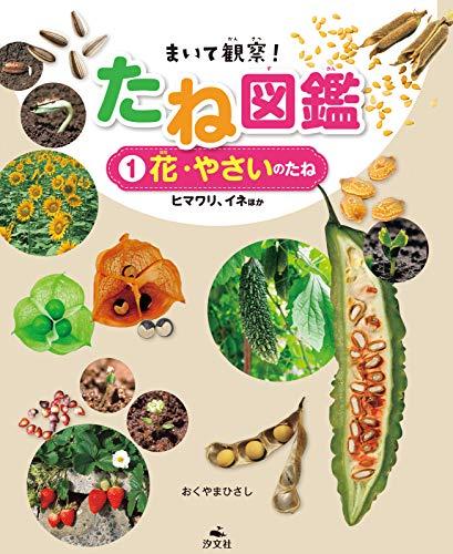 汐文社『まいて観察!たね図鑑 1花・野菜のたね ヒマワリ・イネほか』