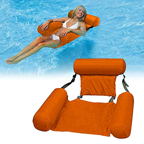 JIAMEI Floating Recliner Lounge, Pool Lounger Float Water Hammock Inflatable Rafts Swimming Pool Air Sofa Floating Chair for Swimming Ocean Lake Adults