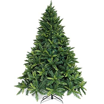 Potalay Artificial Christmas Tree Unlit 4,5,6,7.5 Feet Premium Hinged Spruce Full Tree 6 FT