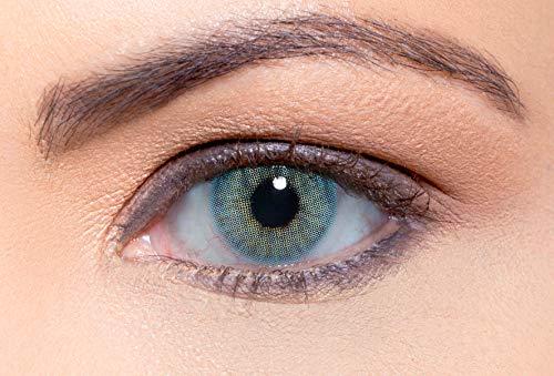Solotica Hidrocor Topazio - lentillas de colores mensuales - 1 par (2 undidades) (0.00, 8.70, 14.20, 2.00)