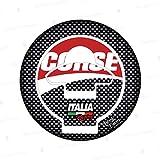 Protector adhesivo resinado tapón depósito de 5 agujeros compatible con moto Ducati