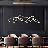 Bxu-bg Minimalista Restaurante LED Lámpara de araña Post-Moderno Lámpara colgante de lujo simple Contador de barra de acero inoxidable Araña de acero Iluminación