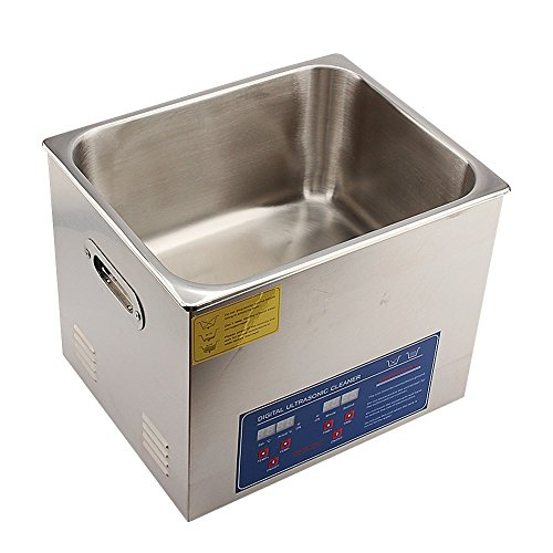 Ultrasonic Cleaner, Professional Stainless Steel Digital Ultrasonic Cleaner Machine with Heater Timer Setting for Parts Jewelry Brass Eyeglass Ring Carburetor Contact Lens Injector (10L)