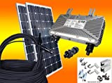 bau-tech Solarenergie 260Watt Photovoltaikanlage/Solaranlage für Eigenverbrauch Plug & Play Komplettset mit Montagematerial für EIN Pfannendach/Ziegeldach GmbH