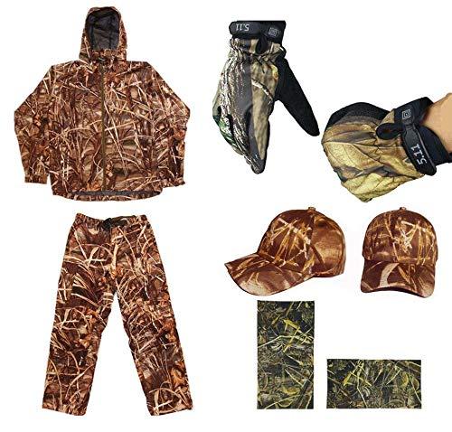 JXS-Outdoor Dschungel-Tarnung-Jagd-Anzug, Tarnung-bionischer Fischen-Anzug, wasserdicht und kalt, benutzt für Jagd-Fischen,M