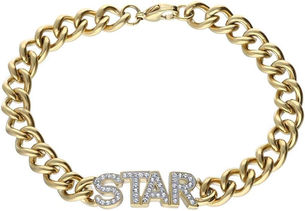 Stroili bracciale per donna  in acciaio dorato con scritta centrale