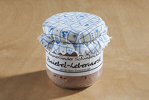 Hausgemachte Zwiebelleberwurst im Glas   160g