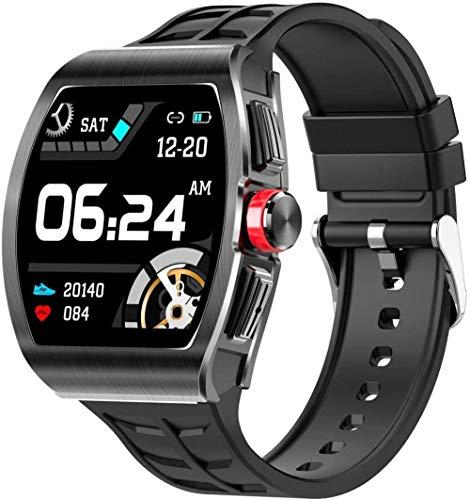 Business Sports TK18 - Reloj inteligente para mujeres y hombres con monitor de frecuencia cardíaca y presión arterial con Bluetooth para Android IOS-C