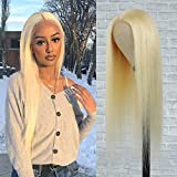 613 Blonde Lace Front Wig Human Hair, 18' 13x1 Middle Part 613 Lace Wig with Baby Hair 9A Brazilian Straight Blonde...