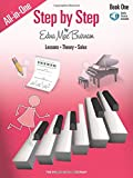 Step by Step All-in-One Edition - Book 1: Book with Online Audio (Step by Step Piano Course)
