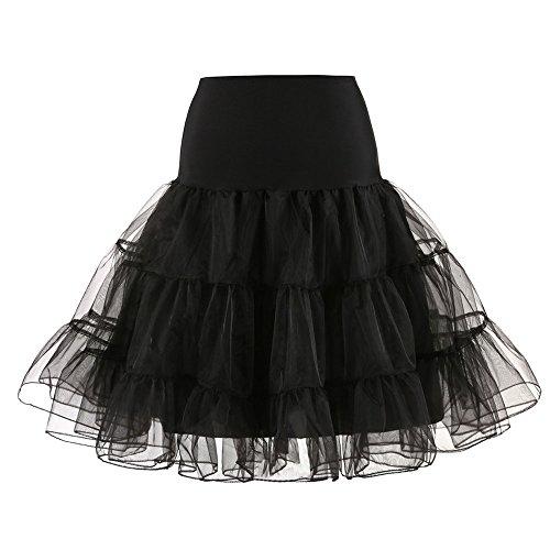 POPLY Damen 1950 Petticoat Reifrock Unterrock Petticoat Underskirt Reisen Stil Tutu Crinoline für Rockabilly Kleid Karneval Kostüm Kleid Hohe Qualität Faschingskostüme