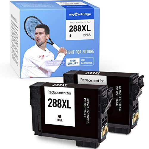 MYCARTRIDGE Remanufactured Ink Cartridge Replacement for Epson 288XL T288XL use for Expression XP-330 XP-340 XP-430 XP-434 XP-440 XP-446 Printer (2 Black)