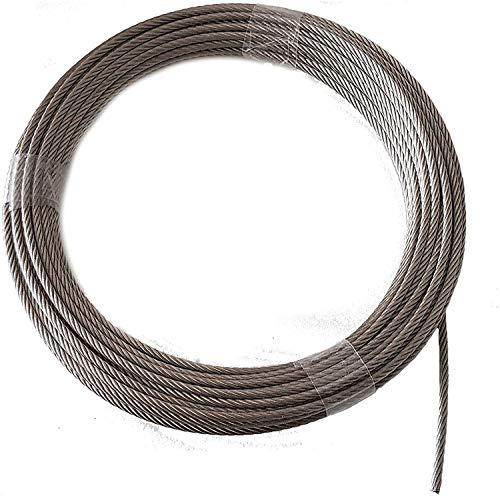 Nirosta - Cable de alambre (4 mm, 15 m, acero inoxidable, 7 x 19, EN 1.4401, blando, A4, Nirosta)