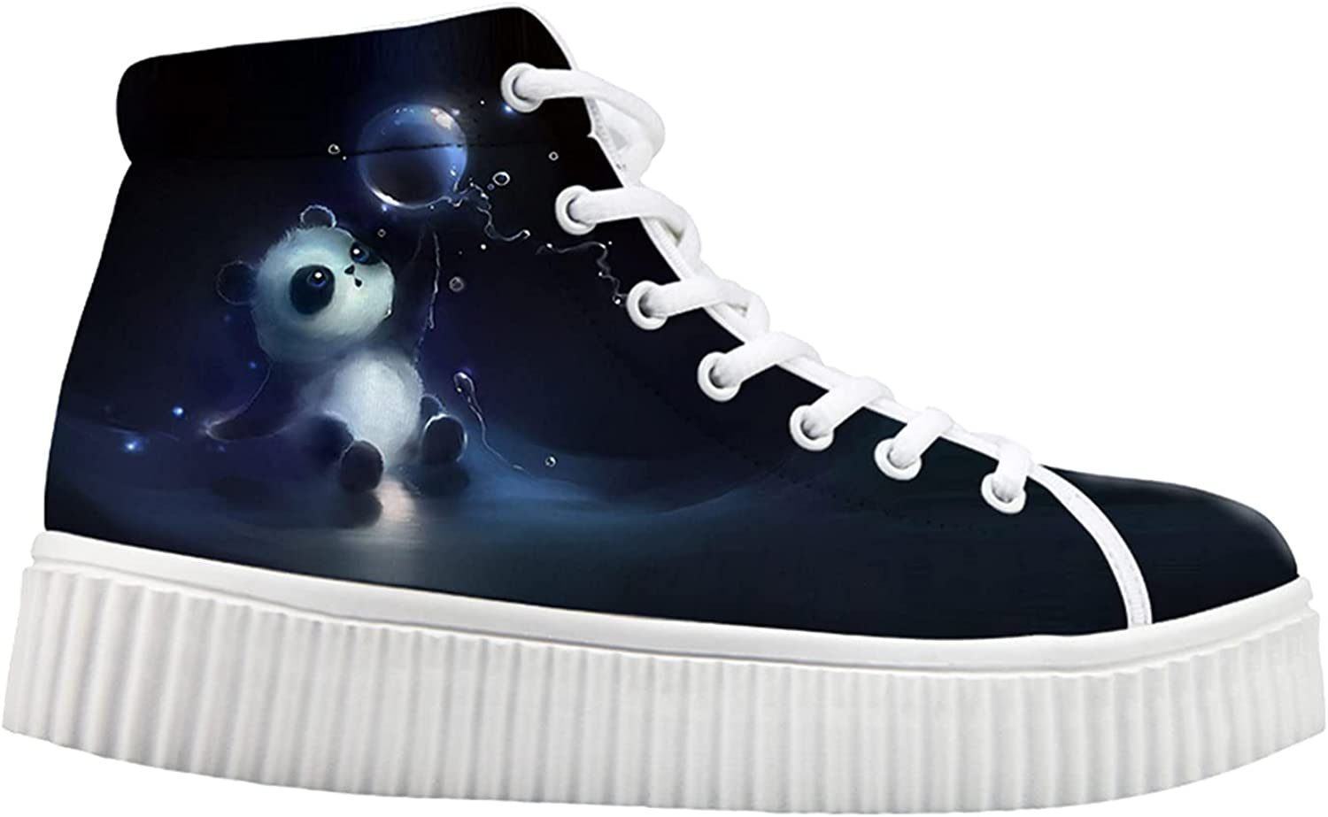 OFFicial site Owaheson Lovely Panda Bear Baby Water Polo Wedge Sneaker Playing Popular popular