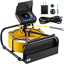 VEVOR Sewer Camera 98.4 FT Cable Pipeline Inspection Camera 4.3 Inch TFT LCD Monitor Pipe Camera Screen Waterproof IP68 Duct Inspection Camera with 6PCS LEDs 8500MAH Lithium Battery, DVR Function, 30M