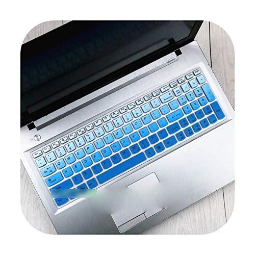 15.6 17.3 Silicone Keyboard Protector Cover Skin for Lenovo Y70-70 300-17 Y50C B70-80 B71-80 V2000 V4000 Y50C G50-70 Z50 N50-Gradualblue-