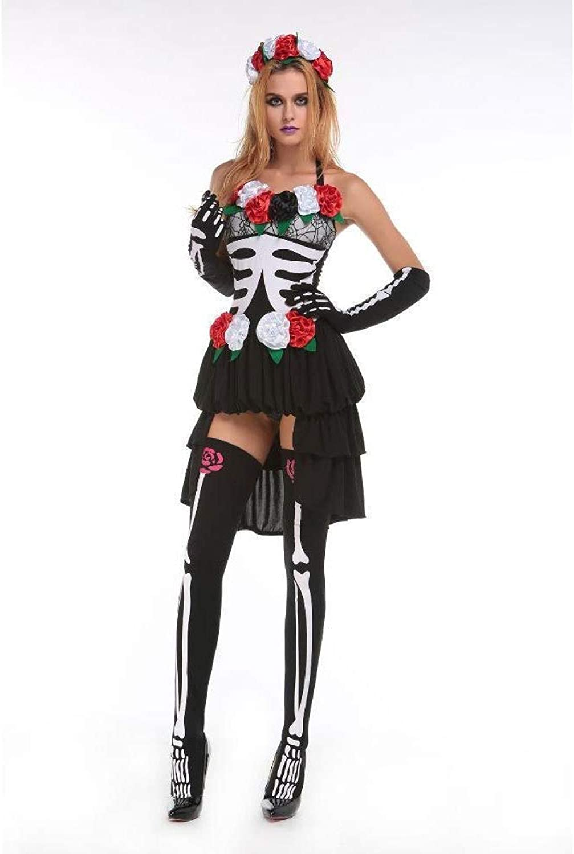 FashionCos1 Zombie Cosplay Red Ghost Braut Kostüme Hexe Prinzessin Mesh Kleid Und Kopf Tragen Set Halloween Vampire Demon Kostüme Für Frauen