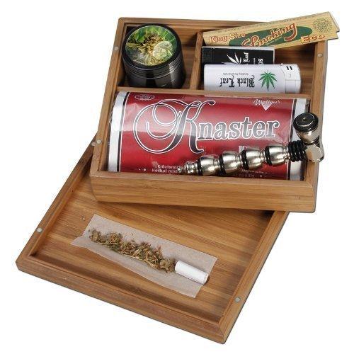 Black Leaf Tabak-Box aus Bambus 175x160x60mm