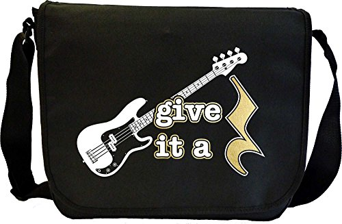 Bass Guitar Give It A Rest - Sheet Music Document Bag Musik Notentasche MusicaliTee