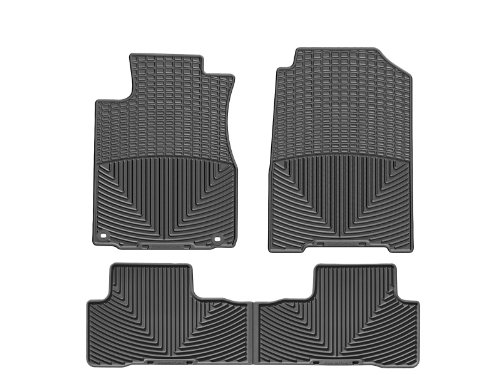 WeatherTech All-Weather Floor Mats for Honda CR-V - 1st & 2nd Row (Black)