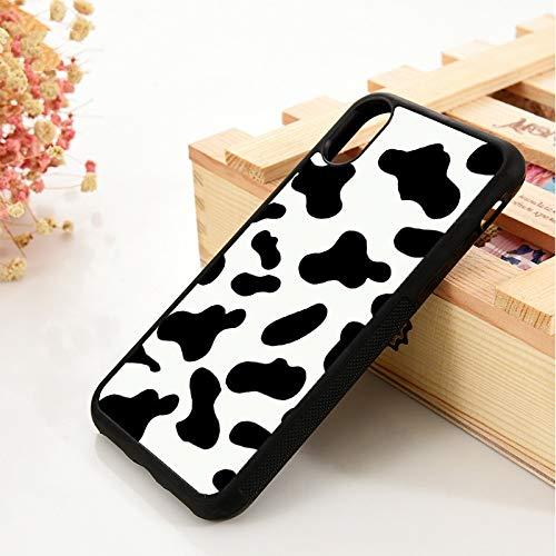 WGOUT para iPhone 5 5S 6 6S Funda de Gel de sílice de TPU Suavepara iPhone7 Plus X XS 11 Pro MAX XR Cow Print Negro Blanco, para iPhone 11 Pro
