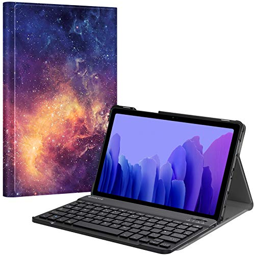 "FINTIE Keyboard Case for Samsung Galaxy Tab A7 10.4"" Tablet 2020 (SM-T500/SM-T505), Slim Stand Cover with Magnetically Detachable Wireless Bluetooth Keyboard (UK Version), Galaxy"
