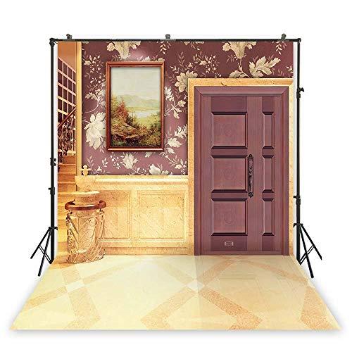 2 x 3 meter fotobehang, bloemenpatroon, marmer, binnenachtergrond, foto, fotostudio, foto, draaien, XT-1510