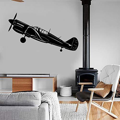 Avión retro Air Force Jet etiqueta de la pared decoración del hogar diseño habitación para adolescentes niños dormitorio ejército calcomanías murales papel tapiz A1 57x31cm