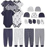 TONE Body de manga corta para recién nacidos, niños y niñas, 0-3 m/3-6 m/6-9 m/9-12 m, algodón, 5 unidades Set 3 0-3 Meses