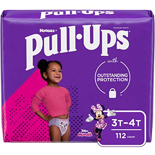 Pull-Ups Girls' Potty Training Pants Training Underwear Size 5, 3T-4T, 112 Ct, One Month Supply