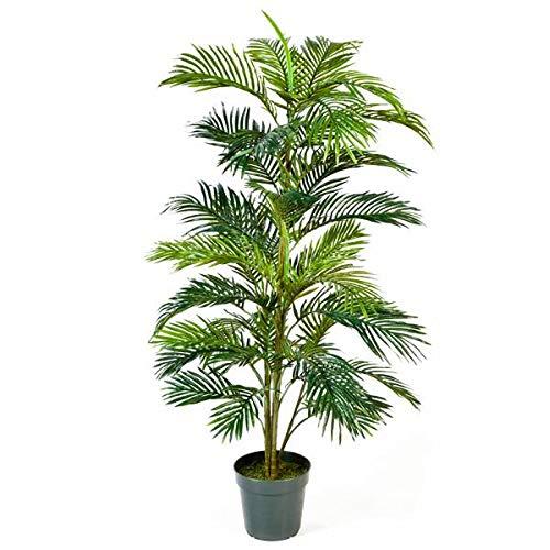 artplants.de Künstliche Areca Palme Jennica im Zementtopf, 39 Palmwedel, 150cm - Kunstpalme - Dekopalme