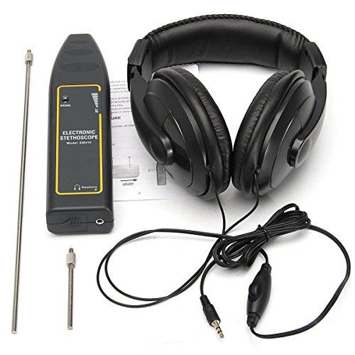 Tutoy Estetoscopio electrónico Auricular Detector de Fugas Kit de Equipo de detección de tubería de Agua