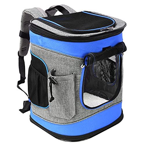 """Pawsse Dog Backpack Pet Carrier Rucksack für Katzen und Hunde bis 15 Pfund Outdoor Travel Carrier für Haustiere Wandern, Walken, Radfahren & Outdoor 16"""" H x13.2 L x12 W Blau"""