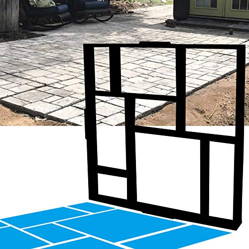 CJGQ ANOTHERA 20'x20'x1.8' Plus Size Walk Maker Reusable Concrete Path Maker Molds Stepping Stone Paver Lawn Patio Yard Garden DIY Walkway Pavement Paving Moulds (8-Grid)