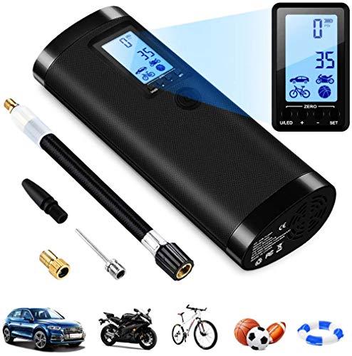 Bombas de aire para inflables, Bomba bicicleta Bicicleta eléctrica Infla LCD Digital Inflador neumáticos Bomba aire alta presión 120PSI Bicicleta Bomba neumáticos para carretera Bicicleta montaña