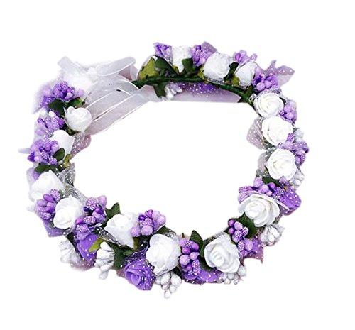 Mariage Artificial Wreath cheveux - Elégant Bohemian Coiffe, [Violet] #01