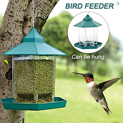 Urijk Hängende Futterstation Vogelfutter Vogelhaus wasserdichte Futterspender Vogel Fütterung Vogel Futterhaus für Wildvögel (#1)